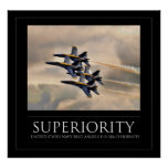 Superioridad - ángeles de azules marinos poster