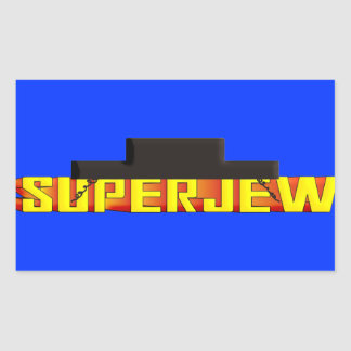 SuperJew Pegatina Rectangular