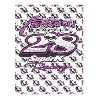 SuperK Racing's... Autumn Kopecks Skully Series Postcard