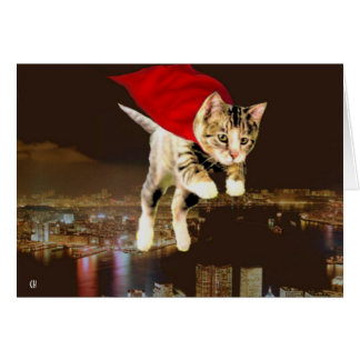¡Superkitty! Tarjeta De Felicitación