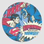 Superman 13 classic round sticker