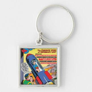 Superman #146 Silver-Colored square keychain