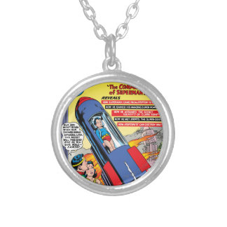 Superman #146 silver plated necklace