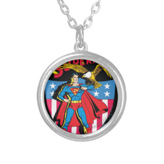 Superman #14 silver plated necklace