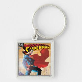 Superman #204 June 04 Silver-Colored Square Keychain