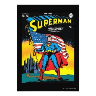 Superman #24 5x7 paper invitation card