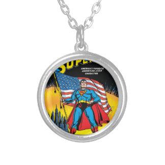 Superman #24 round pendant necklace