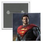 Superman 2 Inch Square Button