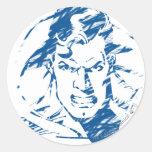 Superman 35 classic round sticker