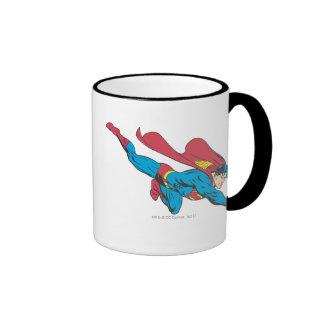 Superman 50 ringer coffee mug