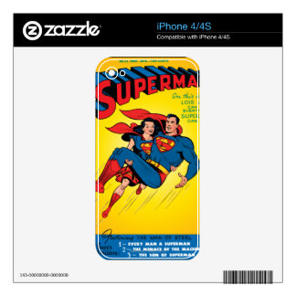 Superman #57 decal for the iPhone 4S