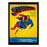 Superman #57 greeting card
