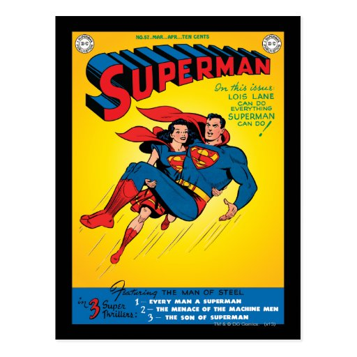 Superman #57 post cards
