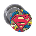 Superman 66 pinback button