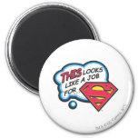 Superman 74 2 inch round magnet