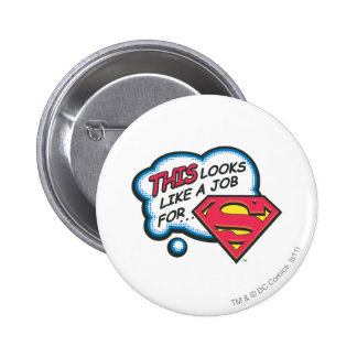 Superman 74 pinback button