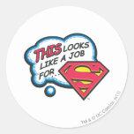 Superman 74 classic round sticker