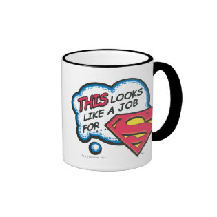 Superman 74 ringer coffee mug