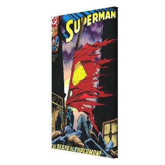 Superman #75 1993 canvas print