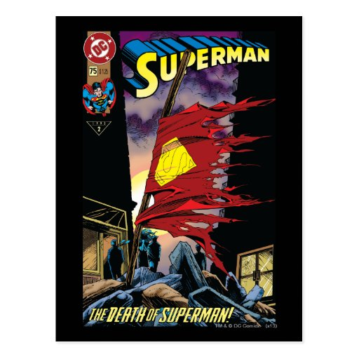 Superman #75 1993 post card