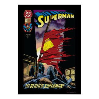 Superman #75 1993 poster