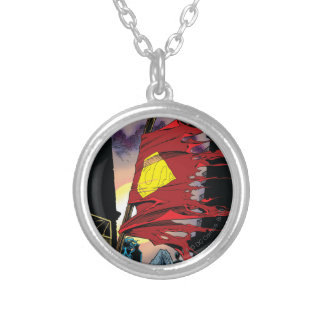 Superman #75 1993 silver plated necklace