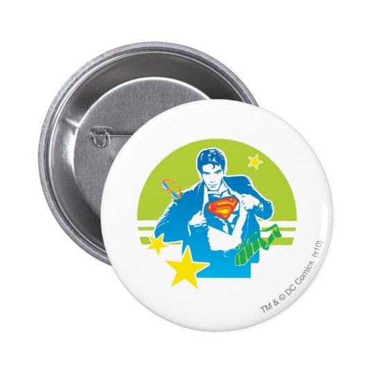 Superman 80's Style Button