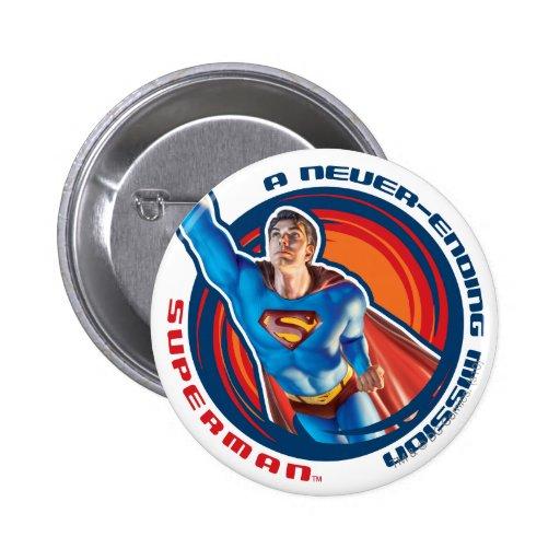 Superman A Never-ending Mission Button