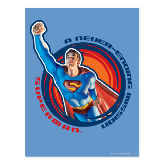 Superman A Never-ending Mission Post Card