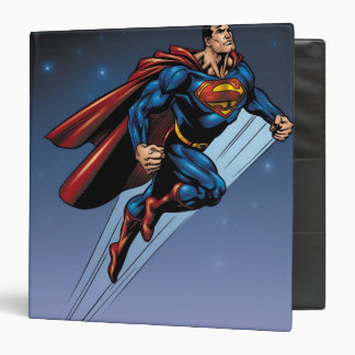 Superman against the night sky binder