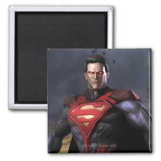 Superman Alternate 2 Inch Square Magnet