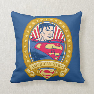 Superman American Hero Throw Pillow