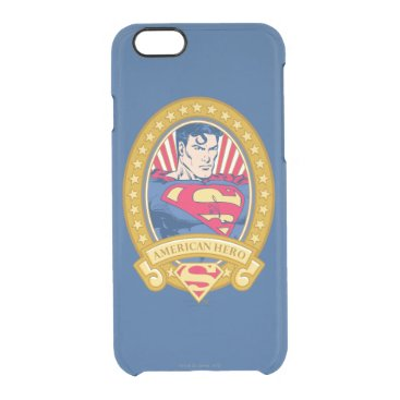 Superman American Hero Clear iPhone 6/6S Case