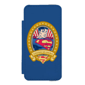 Superman American Hero Wallet Case For iPhone SE/5/5s