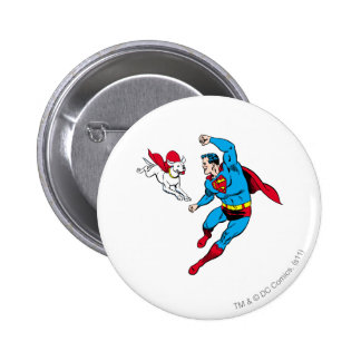 Superman and Krypto 2 Button