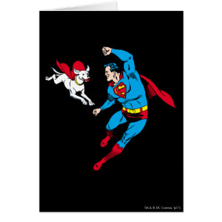 Superman and Krypto 2 Greeting Card