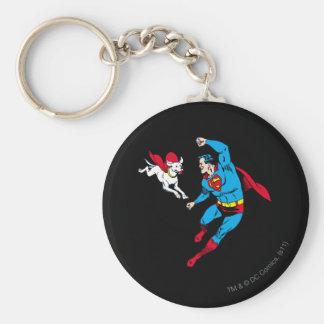 Superman and Krypto 2 Keychain