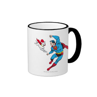 Superman and Krypto 2 Ringer Mug