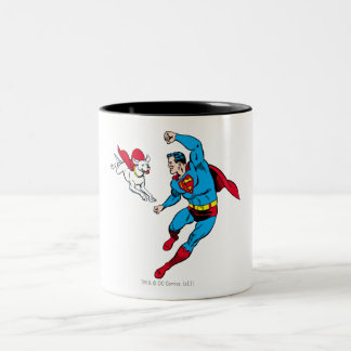 Superman and Krypto 2 Two-Tone Coffee Mug