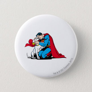 Superman and Krypto Button