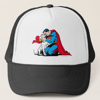 Superman and Krypto Trucker Hat