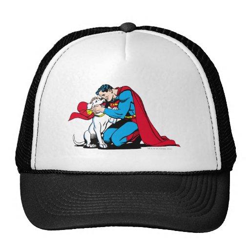 Superman and Krypto Trucker Hat