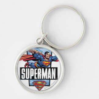 Superman and Logo Bordered Key Chains