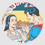 Superman and Lois Comic Classic Round Sticker