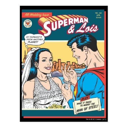 Superman and Lois Comic Postcards