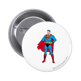 Superman Arms Folded 2 Inch Round Button