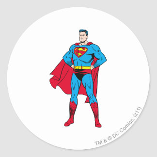 Superman Arms Folded Classic Round Sticker
