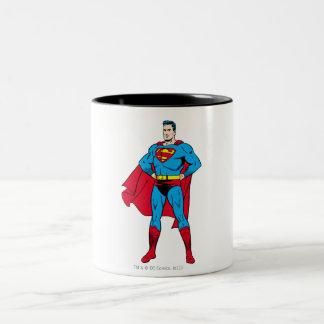 Superman Arms Folded Two-Tone Coffee Mug