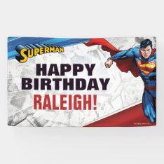 Superman Birthday Banner at Zazzle
