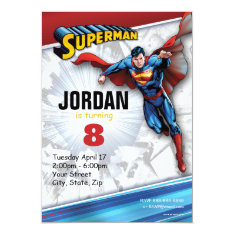 Superman Birthday Card at Zazzle